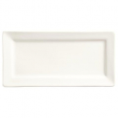 World Tableware - Slate Rectangle Plate, 12x6 Ultra Bright White Porcelain