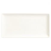 World Tableware - Slate Rectangle Coupe Plate, 12.375x6.25 Ultra Bright White Porcelain