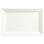World Tableware - Slate Rectangle Platter, 12x8 Ultra Bright White Porcelain