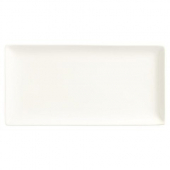 World Tableware - Slate Rectangle Coupe Plate, 12.25x8 Ultra Bright White Porcelain