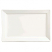 World Tableware - Slate Rectangle Platter, 11x7 Ultra Bright White Porcelain