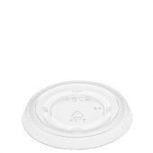 Amhil - Portion Cup Lid, Fits 1.5, 2 and 2.5 oz Cups, Clear Plastic