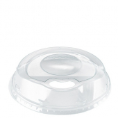 Amhil - Sip Thru Dome Lid, Fits 9, 12 & 20 oz Cups, Clear PET Plastic