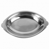 Au Gratin Dish, 12 oz Oval Stainless Steel