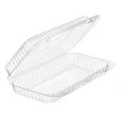 Inline Plastics - SureLock Hinged Lid Loaf Container, Clear PET Plastic, 9.5x5.5x2