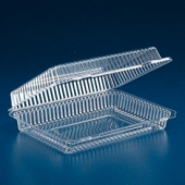 Surelock Hinged Lid Loaf Container, Clear PET Plastic, 11x9x3