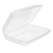 Inline Plastics - SureLock Hinged Lid Muffin/Cupcake Container, Clear PET Plastic, 12x8.75x2.75
