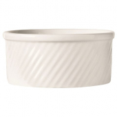World Tableware - Bedrock Ovenware Souffle Dish, 12 oz Bright White Porcelain