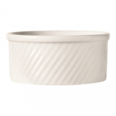 World Tableware - Bedrock Ovenware Souffle Dish, 8 oz Bright White Porcelain