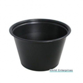 Amhil - Portion Cup, 1.5 oz, Black Plastic