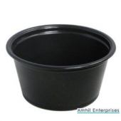 Amhil - Portion Cup, 3.25 oz, Black Plastic