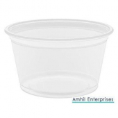 Amhil - Portion Cup, 4 oz, Translucent Plastic