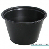 Amhil - Portion Cup, 5.5 oz, Black Plastic