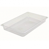 "Winco - Food Pan, Full Size Clear PC Plastic, 2.5"" Deep"