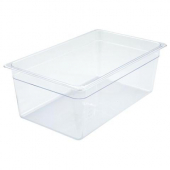 "Winco - Food Pan, Full Size Clear PC Plastic, 7.75"" Deep"