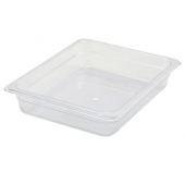 "Winco - Food Pan, 1/2 Size Clear PC Plastic, 2.5"" Deep"