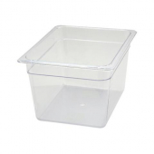 "Winco - Food Pan, 1/2 Size Clear PC Plastic, 7.75"" Deep"