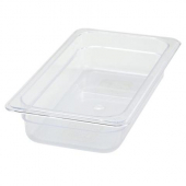 "Winco - Food Pan, 1/3 Size Clear PC Plastic, 2.5"" Deep"