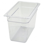 "Winco - Food Pan, 1/3 Size Clear PC Plastic, 7.75"" Deep"