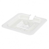 Winco - Food Pan Slotted Cover, 1/6 Size Clear PC Plastic