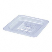 Winco - Food Pan Solid Cover, 1/6 Size Clear PC Plastic