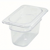 "Winco - Food Pan, 1/9 Size Clear PC Plastic, 3.5"" Deep"