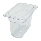 "Winco - Food Pan, 1/9 Size Clear PC Plastic, 5.5"" Deep"
