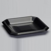 "Genpak - Plate, 9"" Square Black Laminated Foam"