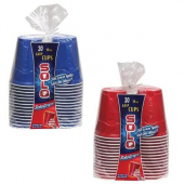 Solo - Cups, Squared Plastic Party Cups, 18 oz Red and Blue