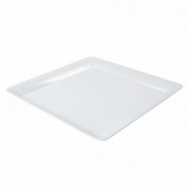 "Fineline Settings - Platter Pleasers Cater Tray, 16"" Sqaure White Plastic"