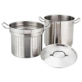 Winco - Steamer/Pasta Cooker, 20 oz Stainless Steel