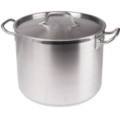 Winco - Stock Pot, 24 Quart Stainless Steel with Cover