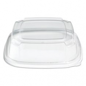 "Fresh 'n Clear Catering Tray 3"" High Dome Lid, 11"" Clear PET Plastic"