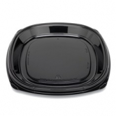 "Fresh 'n Clear Catering Tray, 12"" Black PET Plastic"