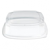 "Fresh 'n Clear Catering Tray 3.5"" High Dome Lid, 14"" Clear PET Plastic"