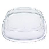 "Fresh 'n Clear Catering Tray 4"" High Dome Lid, 16"" Clear PET Plastic"