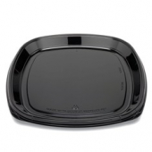 "Fresh 'n Clear Catering Tray, 16"" Black PET Plastic"