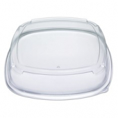 "Fresh 'n Clear Catering Tray 4"" High Dome Lid, 18"" Clear PET Plastic"