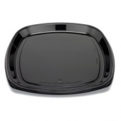 "Fresh 'n Clear Catering Tray, 18"" Black PET Plastic"