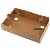 Pop-Up Tray with Drink Straps, 9x7x3 Kraft