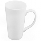 World Tableware - Tall Bistro Mug, 10 oz Bright White Porcelain