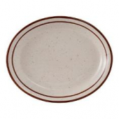 Tuxton - Bahamas Platter, 9.5x7.5 Eggshell with Brown Speckles
