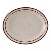 "Tuxton - Bahamas Platter, 11.5"" Eggshell with Brown Speckles"