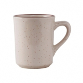 Tuxton - Bahamas Tiara Mug, 8 oz Eggshell with Brown Speckles