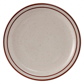 "Tuxton - Bahamas Plate, 7.25"" Eggshell with Brown Speckles"