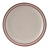 "Tuxton - Bahamas Plate, 9.5"" Eggshell with Brown Speckles"