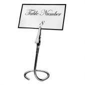 Winco - Table Sign Clip, Chrome Plated with C Swirl Base