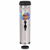 Wilbur Curtis - Tea Dispenser, 3.5 Gallon Stainless Steel, Narrow Design 22x6x17