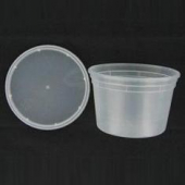 Deli Container with Lid, 16 oz Plastic