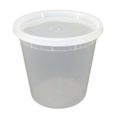 Deli Container with Lid, 24 oz Plastic